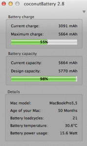 batteria macbook pro