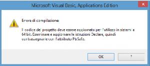 Errore API 64 bit