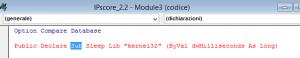 Errore codice VBA