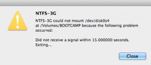 NTFS errore